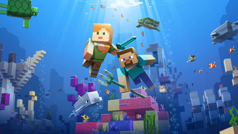 Minecraft revamps its seabed with the Update Aquatic