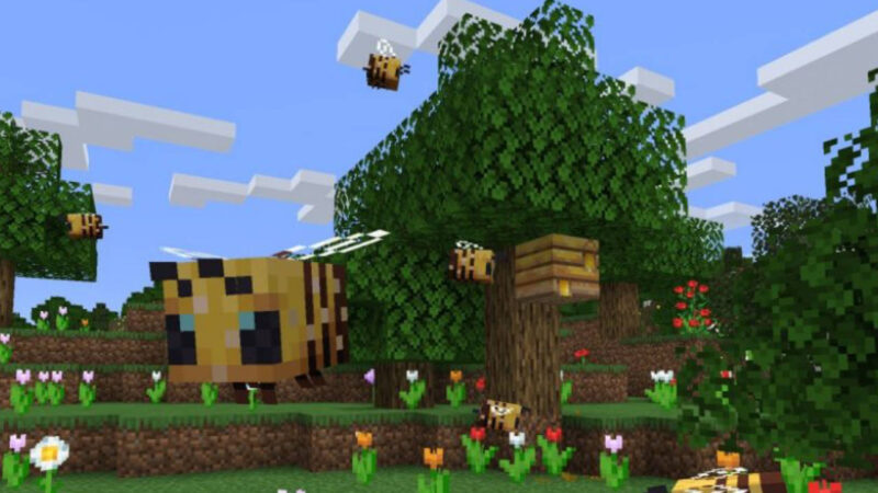 Minecraft adds honey and bees to its latest experimental release